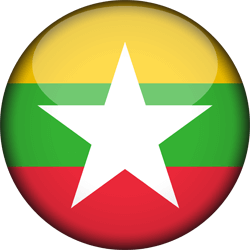 Flag of Myanmar - 3D Round