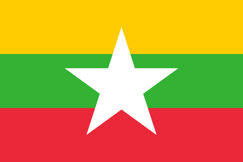 Myanmar flag package