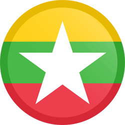 Flag of Myanmar - Button Round