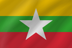 Myanmar flag vector - free download