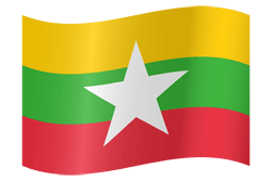 Myanmar vlag vector - gratis downloaden