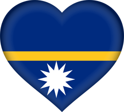 Flag of Nauru - Heart 3D