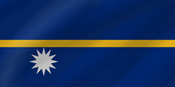 Flag of Nauru - Wave