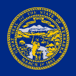 Nebraska flag vector