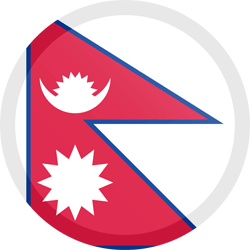 Flag of Nepal - Button Round