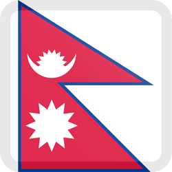 Flag of Nepal - Button Square