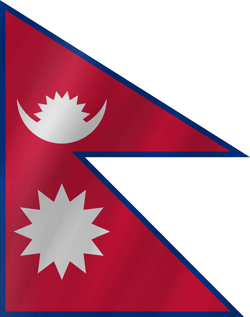 Drapeau du Nepal - Vague