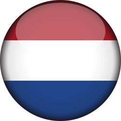 Flag of the Netherlands - Flag of Holland - 3D Round