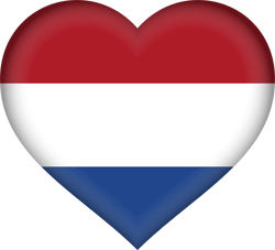 Flag of the Netherlands - Flag of Holland - Heart 3D