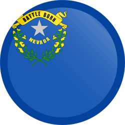 Flag of Nevada - Button Round