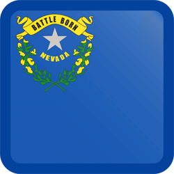 Flag of Nevada - Button Square