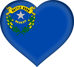Flag of Nevada - Heart 3D