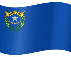 Flag of Nevada - Waving