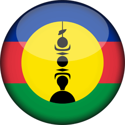Flag of New Caledonia - 3D Round