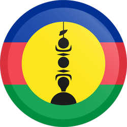 Flag of New Caledonia - Button Round