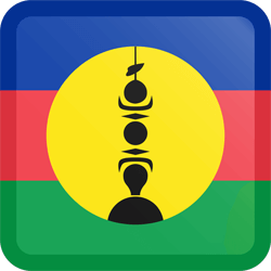 Flag of New Caledonia - Button Square
