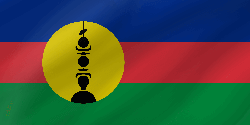 Flag of New Caledonia - Wave
