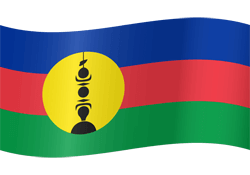 New Caledonia flag vector - free download