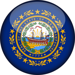 Drapeau du New Hampshire - 3D Rond