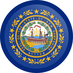 Flag of New Hampshire - Button Round