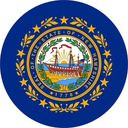 Drapeau du New Hampshire - Rond