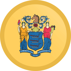 Flag of New Jersey - Button Round