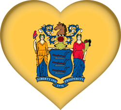 Flag of New Jersey - Heart 3D