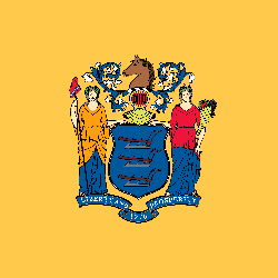 Flagge von New Jersey - Quadrat