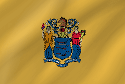 Drapeau du New Jersey - Vague