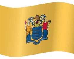 Flag of New Jersey - Waving