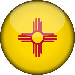 Flag of New Mexico - 3D Round