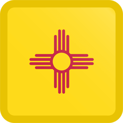 Flag of New Mexico - Button Square