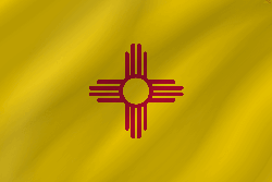 Vlag van New Mexico - Golf