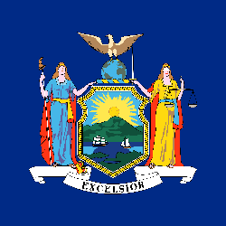 Flagge von New  York - Quadrat