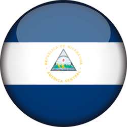 Flag of Nicaragua - 3D Round