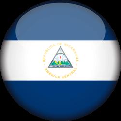 Drapeau du Nicaragua - 3D Rond