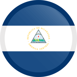 Flag of Nicaragua - Button Round