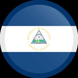 Vlag van Nicaragua - Knop Rond