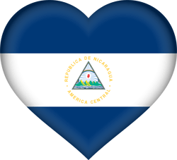 Drapeau du Nicaragua - Coeur 3D