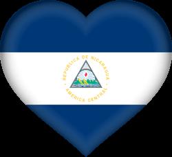 Flag of Nicaragua - Heart 3D