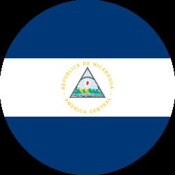 Vlag van Nicaragua - Rond