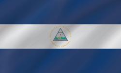 Drapeau du Nicaragua - Vague
