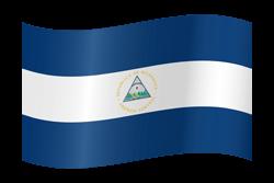 Flag of Nicaragua - Waving