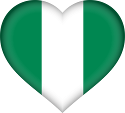 Nigeria flag image country flags nigerian flag heart ccuart