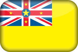 Flag of Niue - 3D