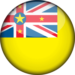 Flag of Niue - 3D Round