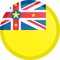 Flag of Niue - Button Round