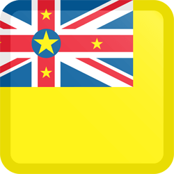 Flag of Niue - Button Square
