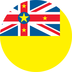 Flag of Niue - Round