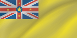 Drapeau de Niue - Vague